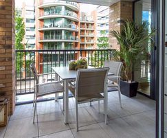 Glass balustrading gives residents uninterrupted views