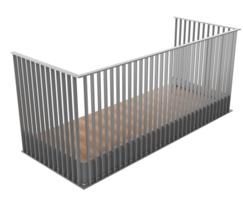 B50 vertical bar balustrade
