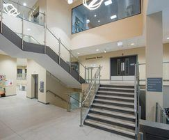 Balustrades for the leisure centre's main stairways