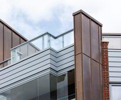 Balustrade systems for the roof terrace areas