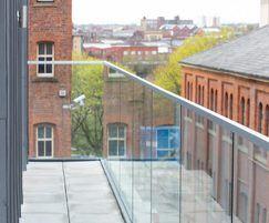 Glass balustrade for apartment block