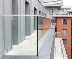 Glass balustrade for Halo Apartments, Manchester
