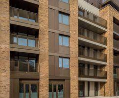 Frameless glass balustrade for apartment block