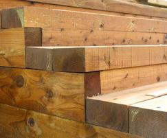 M&M Timber sleepers for steps at Goodwood Race Track
