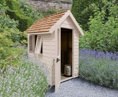 M&M Timber Retreat Shed Natural Cream 6×4