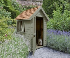 M&M Timber Retreat Shed Moss Green 6×4