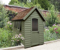 M&M Timber Retreat Shed Moss Green 8x5