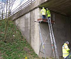 Easi-Dec access platform used for bridge inspection