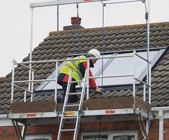 Solar installation - safety work platform