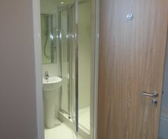 Shower room for student accommodation