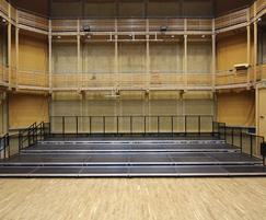 Alu Combi stage in music hall