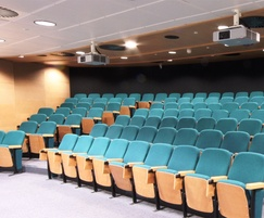 Asset A20 lecture theatre seating on full steel tiering