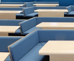 Collaborative bench seating for university room