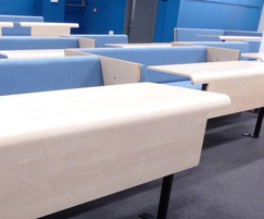 Collaborative bench seating, university lecture hall
