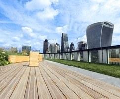 FSC certified iroko timber decking - 33 Central, London