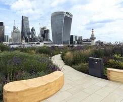 Office development roof terrace - 33 Central, London
