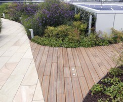 Decking with non slip inserts