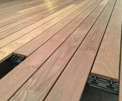 Decking has no clips or screws visible from above