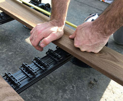 Boards are easily locked into place by hand