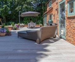 Wood composite decking, residential refurbishment