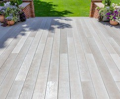 Composite decking for private housing
