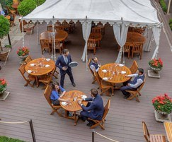 Ecodek composite decking for Home House, London