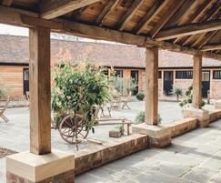 National Trust paving at Barns & Yard of Hanley Hall