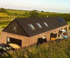 B5 used for roof and walls in self-build project