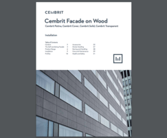 Cembrit facade on wood - installation guide