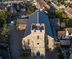 Glendyne blue-grey roof slates for Saint Alphege Chruch