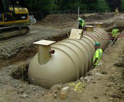 A septic tank was installed for primary treatment