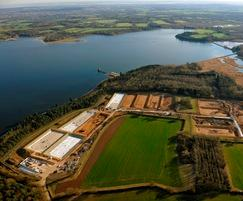 Hanningfield WTW reedbed construction