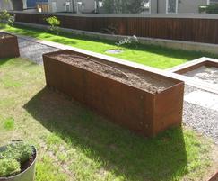 EverEdge® trough planter in corten steel