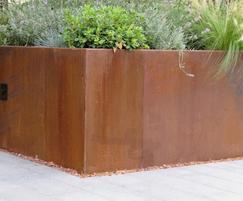 Bespoke corten steel planter