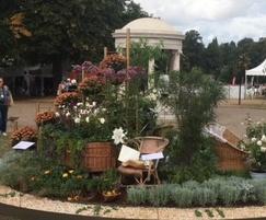 Titan steel edging for award-winning flower show garden
