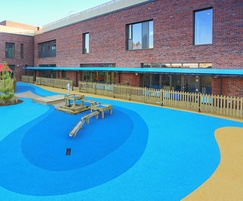 Wet pour surfacing - primary school, London