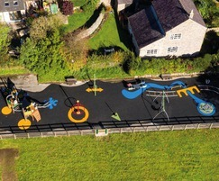 Wet pour surfacing - playground, Chinley
