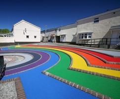 Coloured bound gravel - amphitheatre, Lancashire