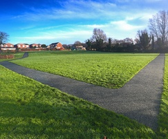 Daily mile track - high school, Lancashire
