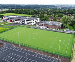 The artificial grass pitch is used all year round
