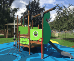 Wet pour and rubber mulch safer surfacing for school
