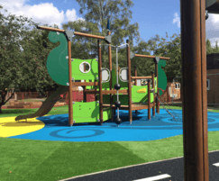 8 colours of wet pour and 2 of rubber mulch were used