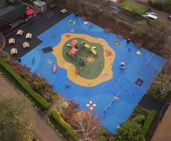 Wet pour play area surfacing, Coronation Park