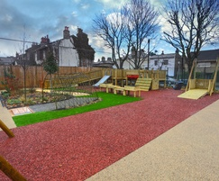 Rubber mulch - Primary School, London