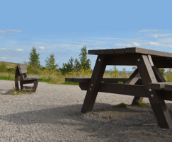 RPC bpi recycled products: New range of Plaswood recycled plastic picnic tables