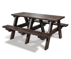 Recycled plastic picnic table - rectangular