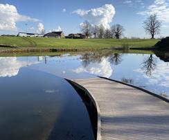 Submerged recycled plastic boardwalks - Popeye's Park