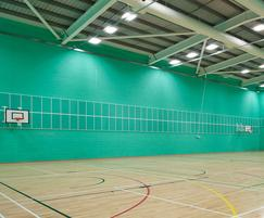 Elite System 4 roof cladding in sports hall