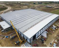 Euroclad: Installation of ultra-long roof sheets, Alconbury Weald