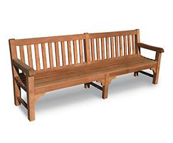 Bloomsbury heavy-duty teak bench